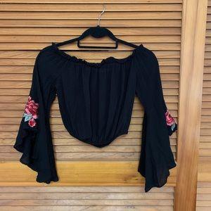 Iris cropped blouse